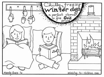 Coloring Winter Pages Children Christian God January