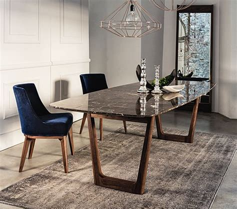 6 seater dining table sets dining table with emperador marble top and walnut base
