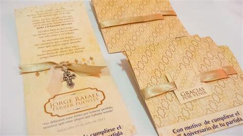 como hacer tarjetas de invitacion a misa de difuntos