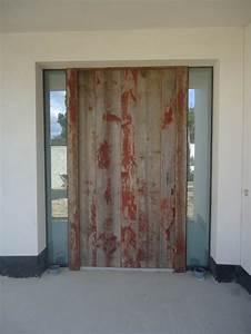 porte d39entree bardage anciens avec peinture d39origine With porte d entrée alu avec meuble salle de bain 150 cm