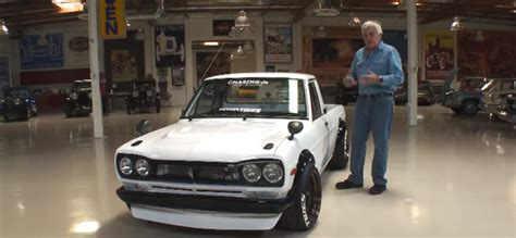 jay leno  datsun sunny  ute review video dpccars