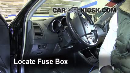 interior fuse box location   nissan altima