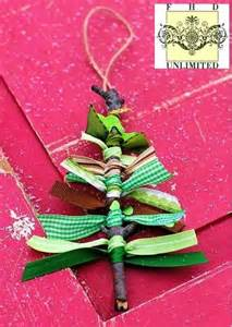 great christmas craft idea ribbon scraps tied to rustic twigs imagine an ornament tree filled