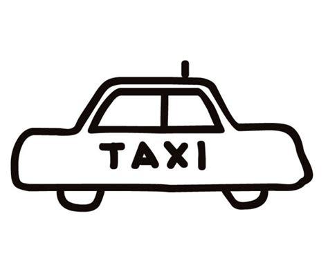 coloriage taxi vectoriel dessin gratuit  imprimer
