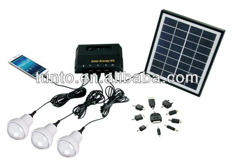 4w mini solar light kits solar panel kit for home use
