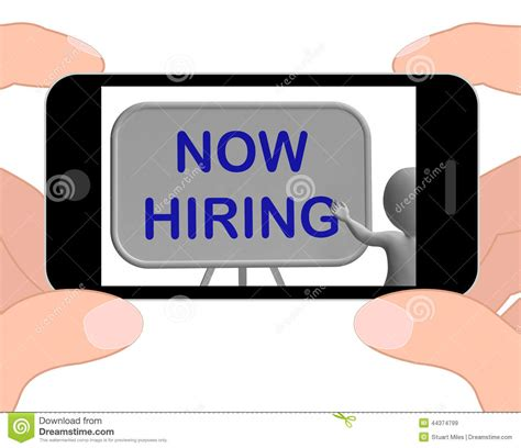 hiring phone means job vacancy  employment stock