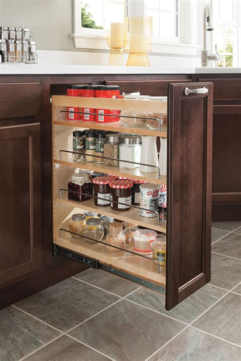 kitchen base cabinet pull outs 12 quot base pantry pull out homecrest cabinetry 7723