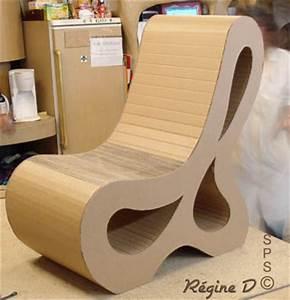 Meuble En Carton Design : meuble carton fabriqu en guise de loisirs cr atifs ~ Melissatoandfro.com Idées de Décoration