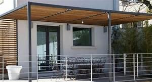 Construire Pergola Bois : appenti adoss maison rev tements modernes du toit ~ Preciouscoupons.com Idées de Décoration