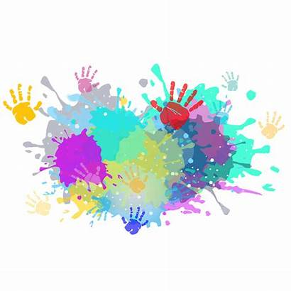 Holi Clipart Splash Colors Festival Background Colorful