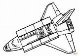 Space Shuttle Colorare Disegni Coloring sketch template