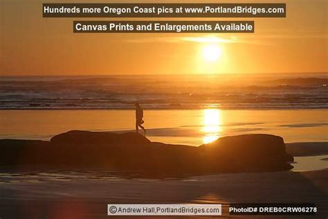 Newport Oregon Nye Beach Sunset Photo Drebcrw