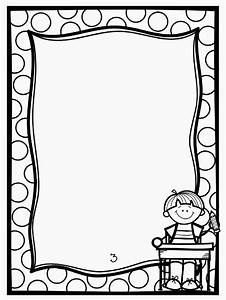 Black & White clipart frame - Pencil and in color black ...