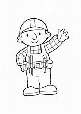 Builder Bob Coloring Sketch Colouring Sprout Colors Paintingvalley Popular sketch template