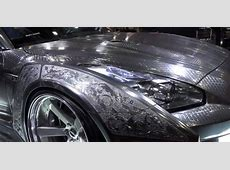 Nissan GTR with Engraved Silver Body by KUHL Is