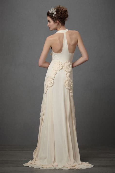 unique racerback wedding dresses