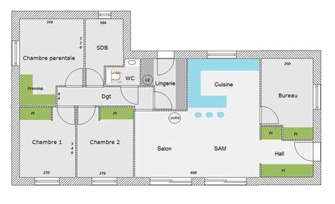 plan maison 3 chambres 1 bureau besoin d 39 avis sur plan de maison 85m avec 4 chambres