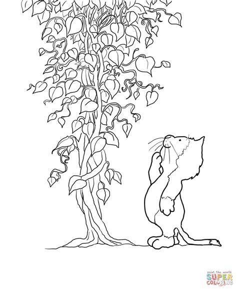 44 Jack And The Beanstalk Coloring Page Jack Beanstalk