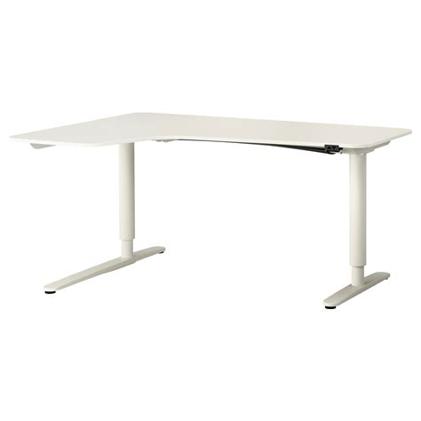 Ikea Bekant Corner Desk White by Bekant Corner Desk Left Sit Stand White 160x110 Cm Ikea