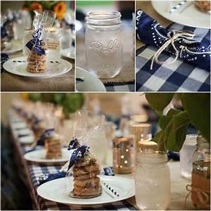 water glass gingham and bandanas on pinterest With inexpensive wedding rehearsal dinner ideas
