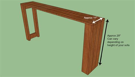 how to a console table woodwork sofa table plans diy pdf plans