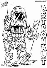 Astronaut Coloring Pages Colorings sketch template