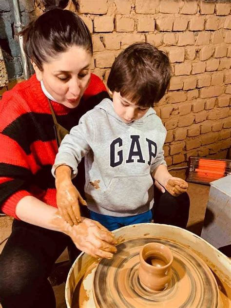 Taimur ali khan was spotted with his mom kareena kapoor khan today. Kareena Kapoor Khan and Taimur Ali Khan Learn Pottery in ...