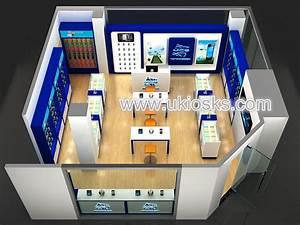 Modular Phones Modern 3d Mobile Phone Shop Display Counter Interior Design