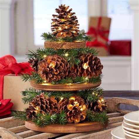 Pine Cone Christmas Tree Centerpiece