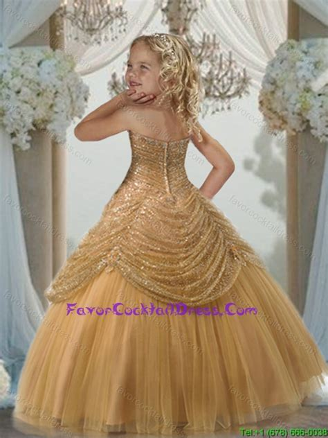 fall  style ball gown sweetheart floor length gold