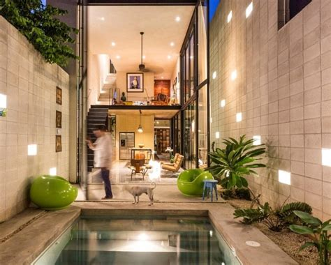 raw house maximizing vertical space  light
