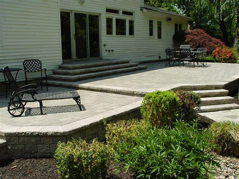 raised pavers patio new jersey masonry contractor