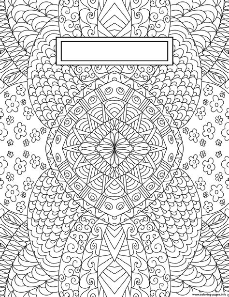 binder cover adult relaxing coloring pages printable