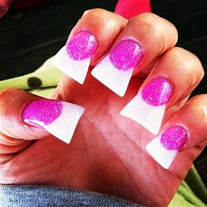 Pink and white nails Duck Tip♥ | Duck Feet, Flare, Fan ...