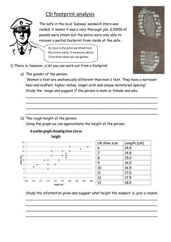 Forensic Analysis Crime Scene By Sueburgham  Teaching Resources Tes
