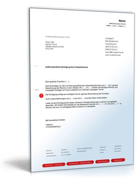 Vermieter Mietvertrag Kündigen by K 252 Ndigung Mietvertrag Vermieter K 252 Ndigung Vorlage Fwptc