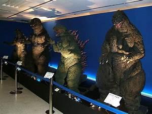 Godzilla Suits on DIsplay - Godzilla 2014 Gallery Left to ...