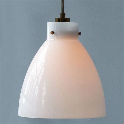industrial glass pendant milk west elm