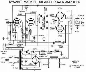 Dynaco Dynakit Mark Iii Tube Amplifier Schematic