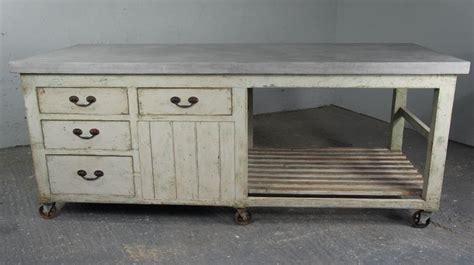 Th Century Industrial Antique Pine Workbench Kitchen