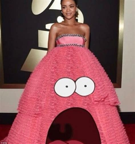 Meme Dress - rihanna s grammys gown becomes an internet sensation daily mail online