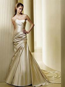 Gold wedding accents are new again houston wedding for Gold color wedding dress