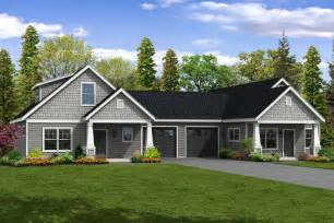 small one story house plans this charming cottage duplex plan has two unique units