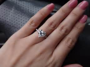 how to wear a wedding ring set post your shaped engagement rings weddingbee