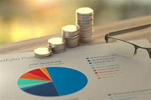 Growth Chart Stacks Of Coins With Asset Allocation Pie Chart Free Image