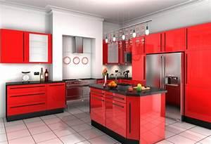 Rote Arbeitsplatte Küche : effektvolle k chengestaltung mit farbe ~ Sanjose-hotels-ca.com Haus und Dekorationen