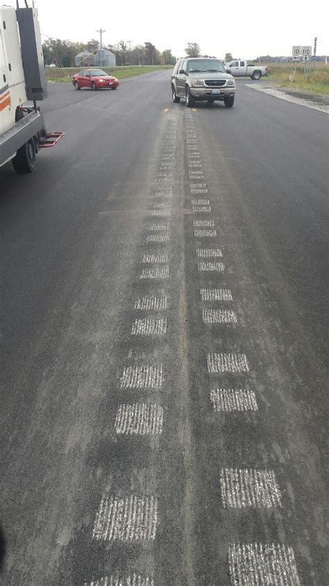 milled rumble strips wl markers snow plowable raised