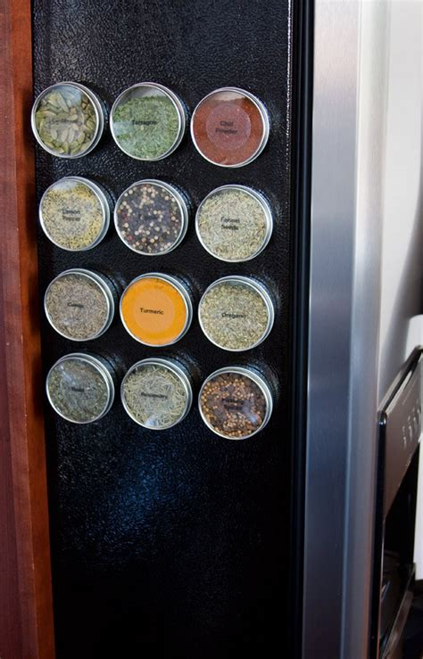 Magnetic Spice Rack For Refrigerator by Magnetic Spice Tins Diy Spice Rack For Home Organization