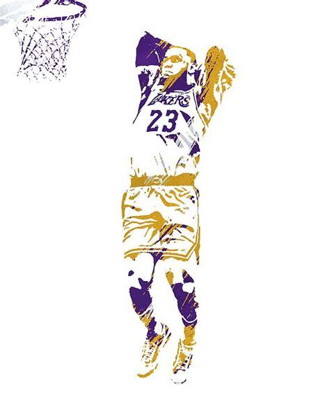 Lebron James Los Angeles Lakers Strokes Pixel Art 3 by Joe ...