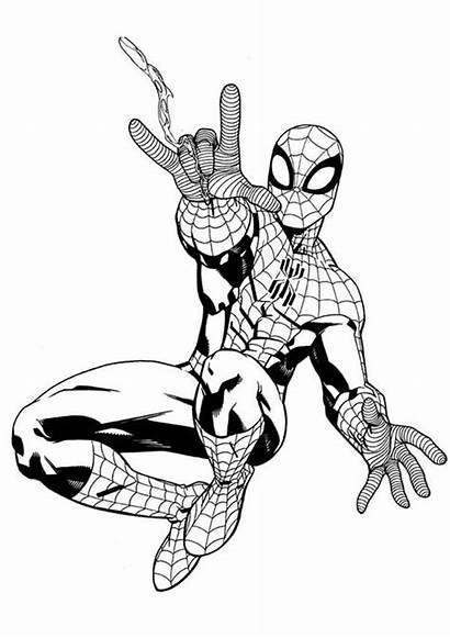 Spiderman Coloring Web Shooter Awesome Pages Drawing